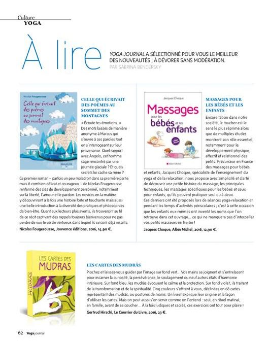 Article de presse : Yoga Magazine.