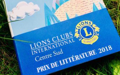 Prix de littérature 2018 «Lions Clubs International Centre sud»